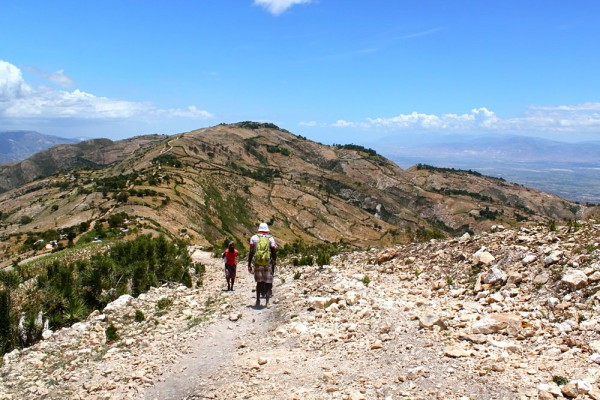 long rocky trails to villages of Pays Pourri