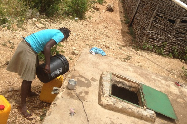 village cistern in use